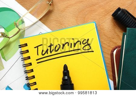 Notepad with tutoring.