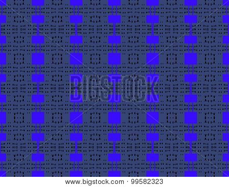 Seamless modern square pattern blue gray