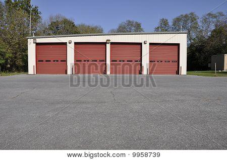 Rural Firehouse Garage