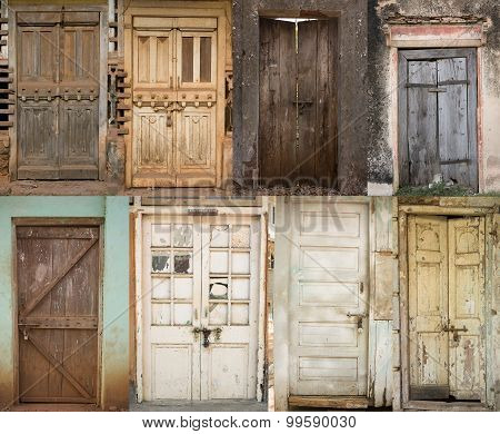 Set Of Old Cracked Doors, Background