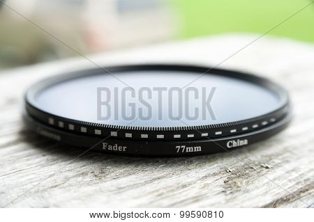 Close View Of A Fader Lens
