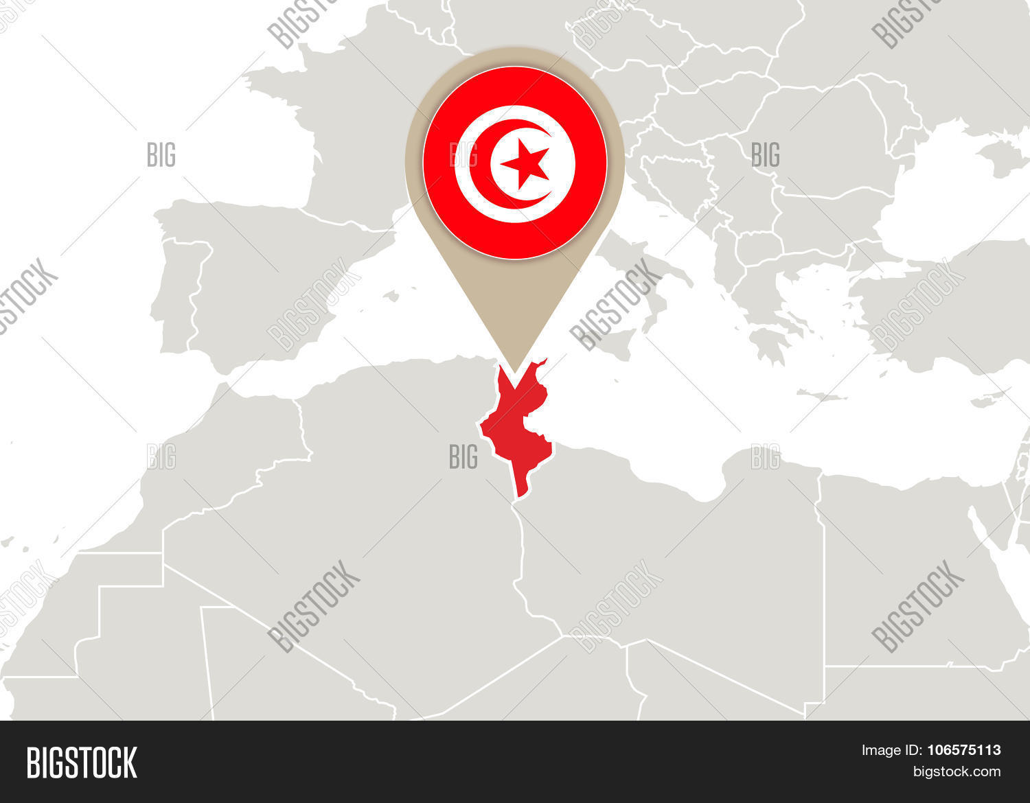 Picture of: Tunisia On World Map Vector Photo Free Trial Bigstock