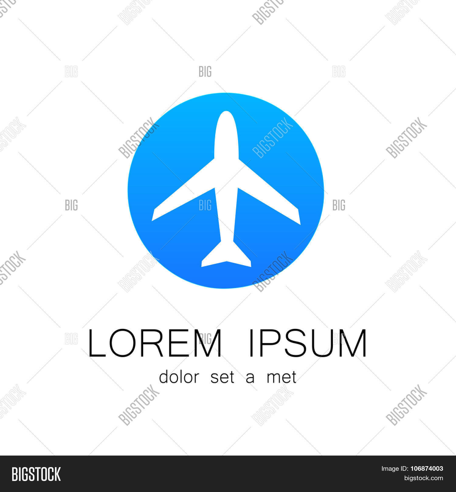 airplane logo vector photo free trial bigstock