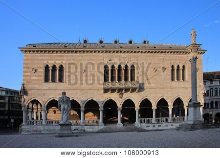 Balcony Of Lionello In Udine, Italy At Sunrise Time