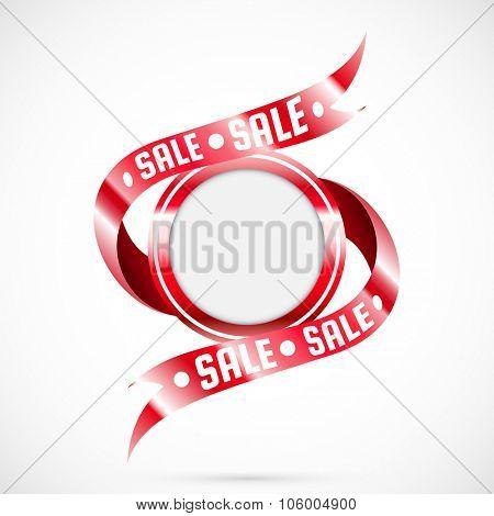 Sale tag. Vector badge. Illustration