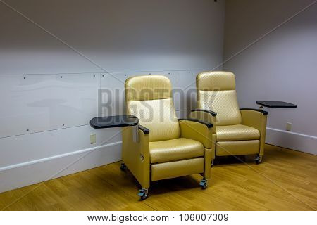 Empty Psych Room With Chairs