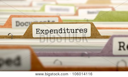 File Folder Labeled as Expenditures.