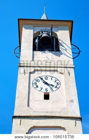 Monument  Clock Tower In Italy Europe Old  Stone