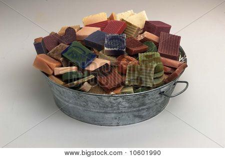 tin full of soap