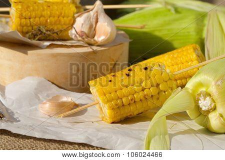 Grilled Corn Skewer