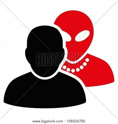 Human Alien Contacts Flat Icon