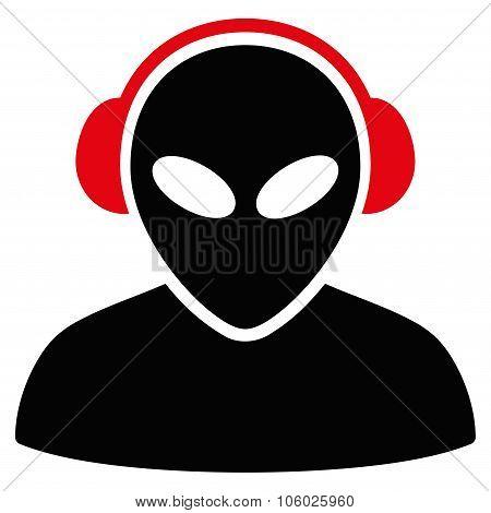Alien Operator Flat Icon