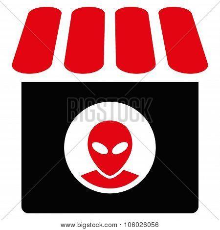 Alien Shop Flat Icon