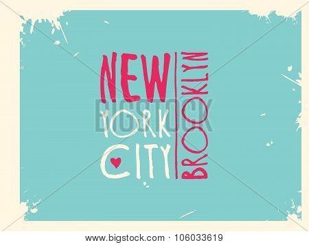 Varsity New york Brooklyn college university division team sport baseball label typography