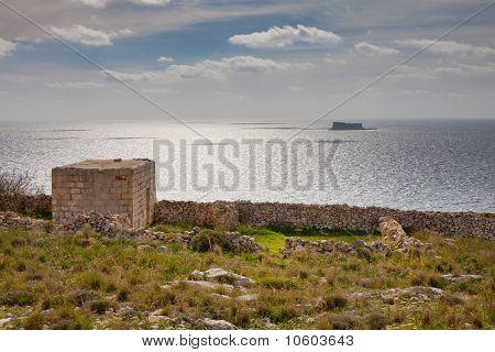 Maltese Island Of Filfla