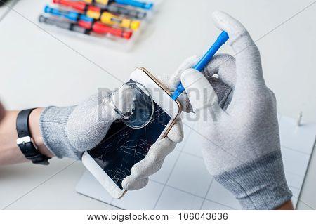 Process of mobile phone repair