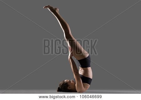 Unsupported Shoulderstand Yoga Pose