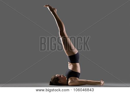 Unsupported Shoulder Stand Yoga Pose
