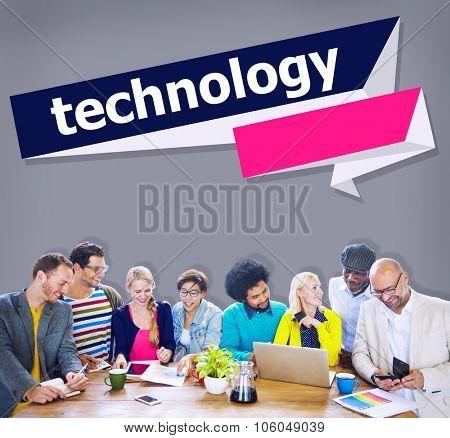 Advanced Technology Innovation Development Tech Concept poster