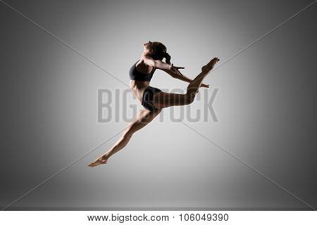 Gymnast Girl Jumping