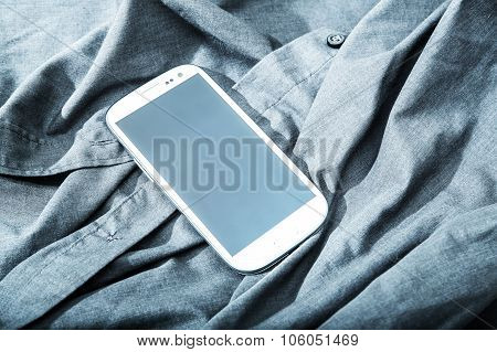 Smartphone On A Shirt.