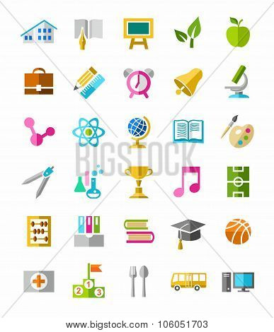 Education Colorful Icons.eps