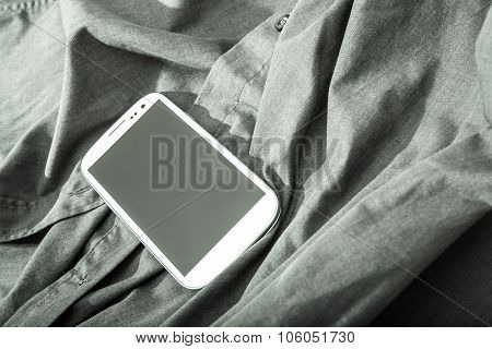 Smartphone On A Shirt