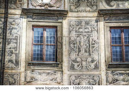 Palazzo della Carovana facade in Pisa in hdr Italy poster