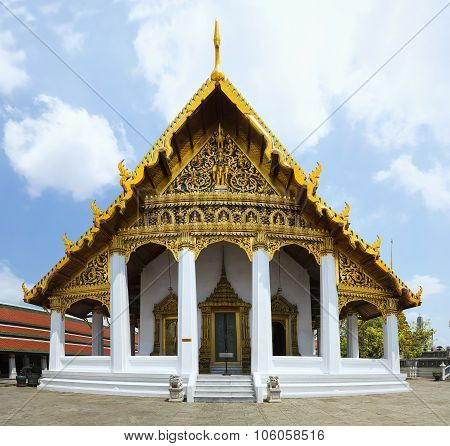 Hor Phra Monthian Dharma, Bangkok, Thailand, Asia. The Scripture  Located On The Ground Of The Grand