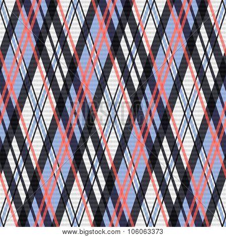Contrast Seamless Tartan Rhombic Texture