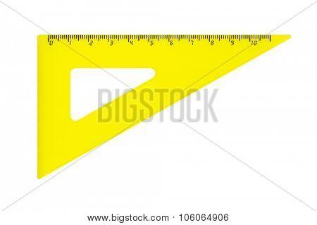Triangle ruler isolated on white background