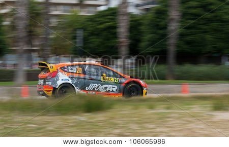WRC Car in Salou, Spain