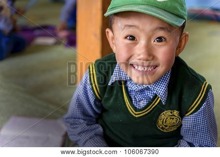 Young Tibetan Student In Leh's Sos Children's Village in Ladakh