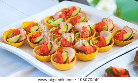 Catering Buffet Style With Different Light Snack