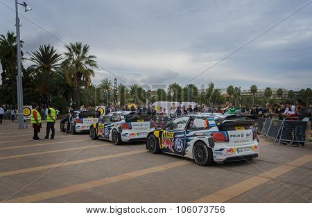 WRC Cars in Salou ,Spain