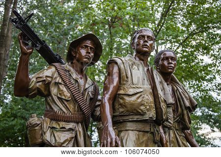Close-up Of 'The Three Soldiers'