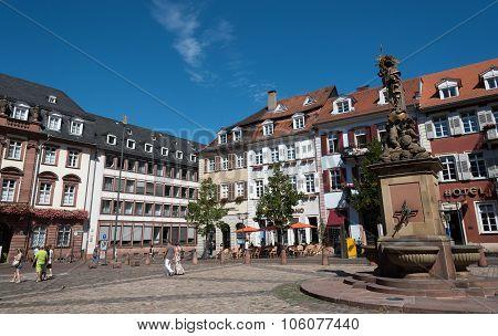 Famous Marktplatz Or Market Square In Heildeberg Germany