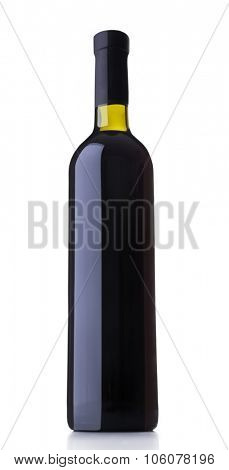 Glass of red wine, isolated on white