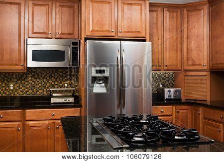 Interior Of Luxury Kitchen In Modern Home