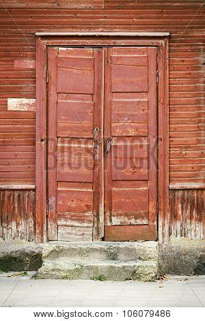 door of old house