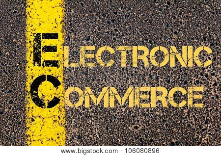 Business Acronym Ec As Electronic Commerce
