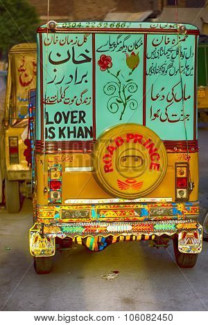 Lover Is Khan - Pakistani Auto Rickshaw