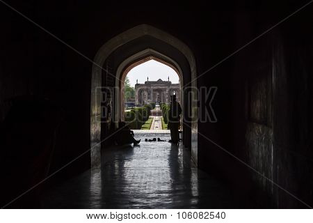 Archway At The Tomb Of Jahangir In  Lahore, Pakistan