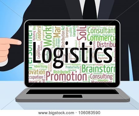 Logistics Word Represents Strategies Analysis And Strategy