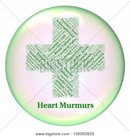 Heart Murmurs Representing Poor Health And Infirmity poster