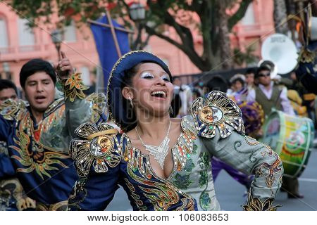 Bolivian Carnival In Buenos Aires