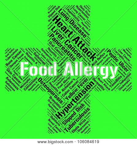 Food Allergy Indicating Allergic Reaction And Eating poster