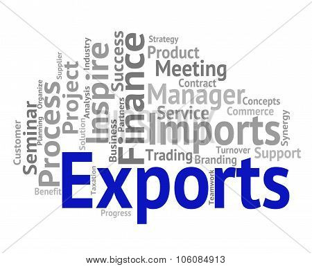 Exports Word Shows Trading Exporting And Exportation