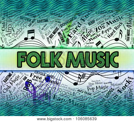 Folk Music Representing Sound Track And Song poster