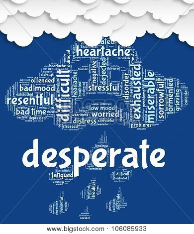 Desperate Word Means Anguished Hopeless And Words